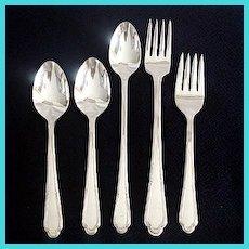 Laurel International Cunningham Silverplate Flatware Lot Forks and Spoons