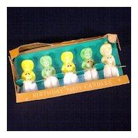 1950s Box Set Gurley Cowboy Figural Birthday Candles