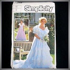 Simplicity Michele Piccione Bridal Gown Sewing Pattern Size 14 Uncut