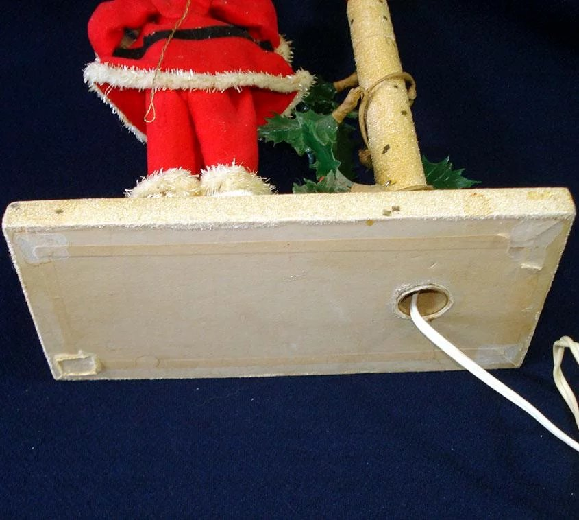 3e029aba08a40 Electric Lighted Christmas Candle Santa Claus Display 1960s. Click to expand