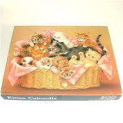 Kitten Caboodle Basket of Kittens Springbok Jigsaw Puzzle