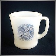 Fire King Currier & Ives Glass Coffee Mug