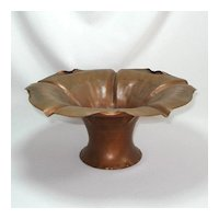 Craftsman Studios Copper Flower Form Centerpiece Bowl
