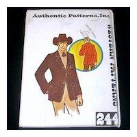 Authentic Patterns Man's Western Wear Blazer Jacket Size 44