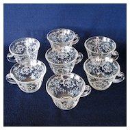 Fostoria Navarre Crystal Cups, Set of 7