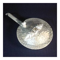 Continental Applied Rose Hammered Aluminum Silent Butler