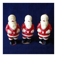 Three 1950s Tavern Santa Claus Christmas Candles