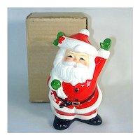 Waving Santa Claus Christmas Coin Bank in Original Box