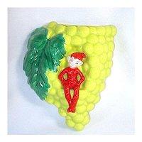 Gilner Pixie Elf Grapes Wall Pocket