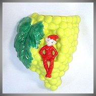 Gilner Pixie Elf Grapes Wall Pocket