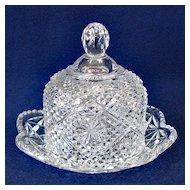 Avon by Fostoria Round Glass Butter Dish