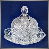 Avon by Fostoria Round Glass Butter Dish
