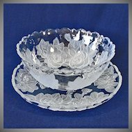 Studio Nova Mikasa 12 Inch Winter Rose Bowl and Platter Tray