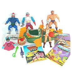 He-Man Masters of the Universe Lot of Action Figures, Vehicle, Weapons