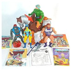 He-Man Masters of the Universe Lot of Action Figures, Horse, Comics