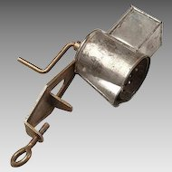 19th c. Tin Clamp Style Spice Grater
