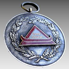 Camp Kennebec Athletic Medal dated 1919: Ontario Boy's Camp Established 1906