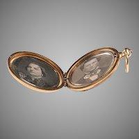 Late 1800's Daguerrotype Locket