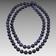 1950's Denim Sodalite 8mm Bead Necklace