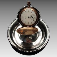 Silver Plate Pocket Watch Holder c.1900