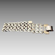 1940'S Costume Heart Link Bracelet