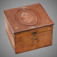"19th c. ""Cards"" Box with Gutta-Percha Lid"
