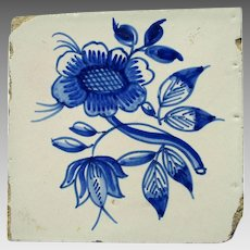 Two 19th c. Delft Tiles