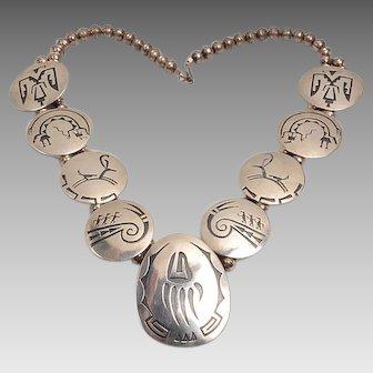 Willie Yazzie Silver Necklace 1970's