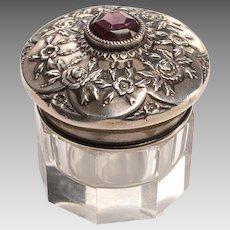 Sterling Top Vanity Jar