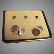 Boxed Set of Krementz Cuff Links with Matching Studs