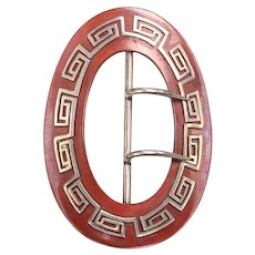 Vintage Clothing BUCKLE: Copper and Silver - Arts and Crafts Movement c.1880 - 1910