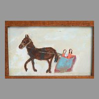 Charming American Folk Art Painting
