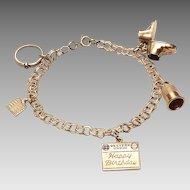 14kt Charm Bracelet c.1950's