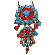 Ottoman Empire Style Costume Necklace 1940's