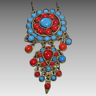 Ottoman Empire Style Costume Necklace 1940's