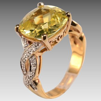 Very Special 60's Costume Topaz Ring