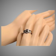 Totally Unisex Silver Buckle Ring