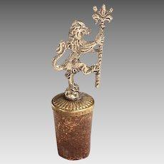 Heraldic Lion Bottle Stopper
