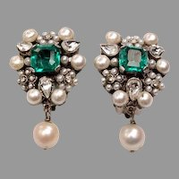 Fine 1950's Costume Earrings
