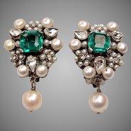 Fine 1950's Costume Earrings