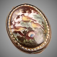 Oval British Battersea Box early 1800's