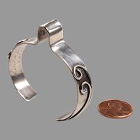 Unusual Sterling Corsage Bracelet dated 1955