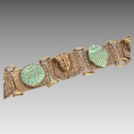 1930s King Tut Souvenir Bracelet