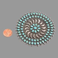 Impressively Large Native American Brooch: Vintage