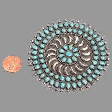 Impressively Large Native American Brooch: Vintage
