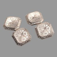 Edwardian 14kt White Gold Cufflinks
