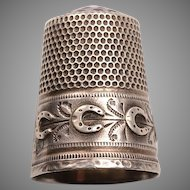 Antique Russian Silver Sewing Thimble