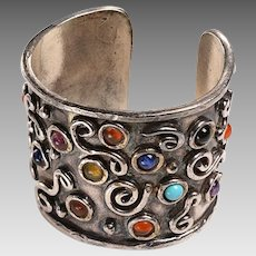 Exceptiional French Costume Cuff Bracelet