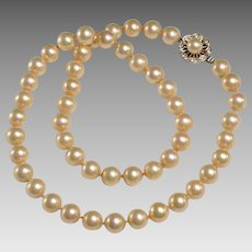 "20"" Strand of 10mm Vintage Majorca Pearls"