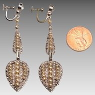 Edwardian Formal Earrings:  Costume